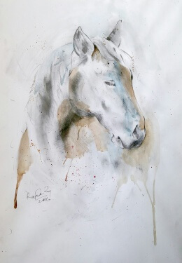 Horse-series-1-by-rajendra-ray-Fresh-Easel