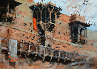 Banaras Series No. 8 by Sandeep Chhatraband at Fresh Easel